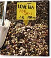 Love Tea Canvas Print by Leslie Leda