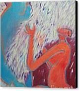Loving My Angel Canvas Print by Ana Maria Edulescu
