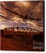 Low Flying Over Rawcliffe Bridge Canvas Print by Nigel Hatton