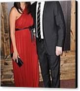 Luciana Barroso, Matt Damon At Arrivals Canvas Print by Everett