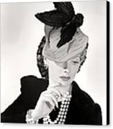Lucille Ball Models A Unique Hat Canvas Print by Everett