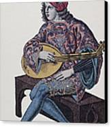 Lute Player, 1839 Canvas Print