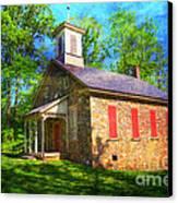 Lutz-franklin Schoolhouse Canvas Print by Paul Ward