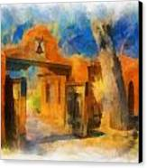Mabel's Gate Watercolor Canvas Print by Charles Muhle