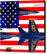 Made In The Usa . Blue Angels Canvas Print