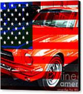 Made In The Usa . Ford Mustang Canvas Print