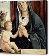 Madonna And Child - Late 15th To Early 16th Century  Canvas Print by Giovanni Battista Cima da Conegliano