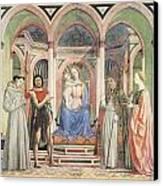 Madonna And Child With Saints Canvas Print by Domenico Veneziano