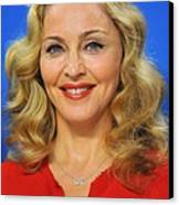 Madonna At The Press Conference Canvas Print by Everett