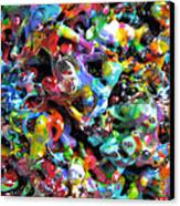 Magic  Colors  Sculpture  Nineteen  Ninety  Nine Canvas Print by Carl Deaville