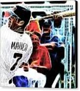 Magical Joe Mauer Canvas Print