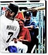 Magical Joe Mauer Canvas Print