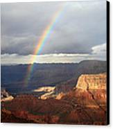Magical Rainbow In The Grand Canyon Canvas Print