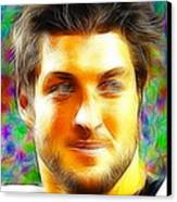 Magical Tim Tebow Face Canvas Print