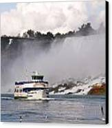 Maid Of The Mist At Niagara Falls Canvas Print by Mark J Seefeldt