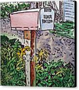 Mailbox Sketchbook Project Down My Street Canvas Print by Irina Sztukowski