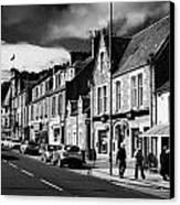 main road through the picturesque small town of Callander scotland uk Canvas Print by Joe Fox