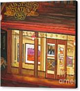 Mainstreet Station Canvas Print by Vikki Wicks