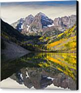 Majestic Maroon Bells Canvas Print by Tim Reaves
