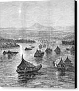 Malaya: Perak River, 1876 Canvas Print