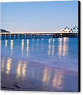 Malibu Pier Reflections Canvas Print