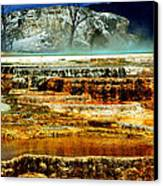 Mammoth Terrace - Yellowstone Canvas Print by Ellen Heaverlo