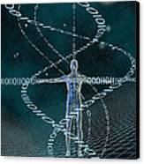 Man And Cyberspace Canvas Print by Carol and Mike Werner