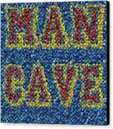 Man Cave Bottle Cap Mosaic Canvas Print by Paul Van Scott