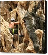 Man Climbing Rock Canvas Print by Ulrike Maier