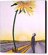 Man Vs. Nature Canvas Print by Michelle Harrington