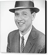 Man Wearing Hat, Posing In Studio, (b&w), Portrait Canvas Print by George Marks