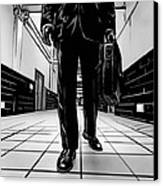 Man With Briefcase Canvas Print by Giuseppe Cristiano