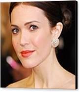 Mandy Moore Wearing Chopard Earrings Canvas Print by Everett