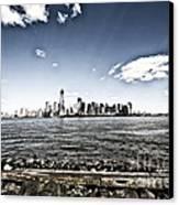 Manhattan Canvas Print by Leslie Leda