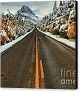 Many Glacier Road Canvas Print by Adam Jewell