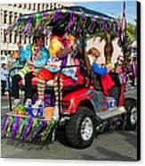 Mardi Gras Clowning Canvas Print
