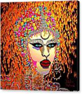 Mardi Gras Canvas Print by Natalie Holland