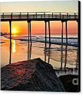 Margate Sunrise Canvas Print by John Loreaux