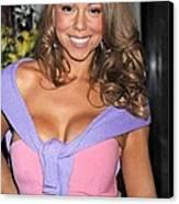Mariah Carey At A Public Appearance Canvas Print