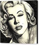 Marilyn Monroe Canvas Print by Debbie DeWitt