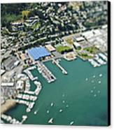 Marina And Coastal Community Canvas Print by Eddy Joaquim