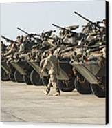 Marines Perform Maintenance On Light Canvas Print by Stocktrek Images