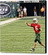 Mark Sanchez Ny Jets Quarterback Canvas Print by Paul Ward