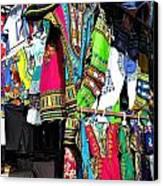 Market Of Djibuti With More Colors Canvas Print by Jenny Senra Pampin