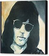 Marky Ramone The Ramones Portrait Canvas Print by Kristi L Randall