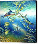 Marlin Frenzy Canvas Print