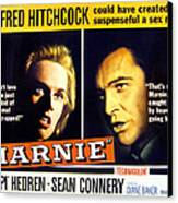 Marnie, Tippi Hedren, Sean Connery, 1964 Canvas Print by Everett