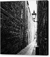 Martins Lane Narrow Entrance To Tenement Buildings In Old Aberdeen Scotland Uk Canvas Print by Joe Fox