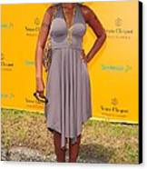 Mary J. Blige At A Public Appearance Canvas Print