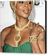 Mary J. Blige At Arrivals For Movies Canvas Print by Everett